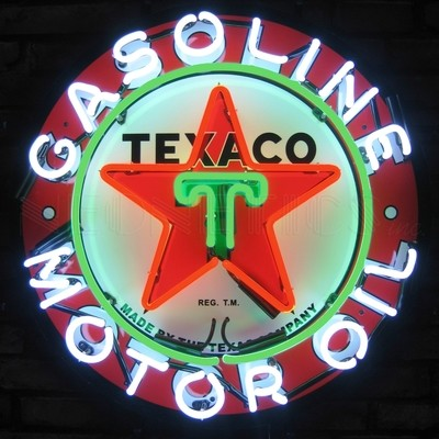 Texaco Gasoline Motor Oil Neon Sign
