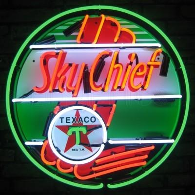 Texaco Sky Chief Gasoline Neon Sign