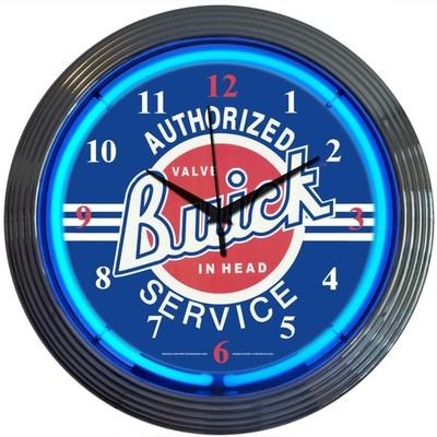 Buick Authorized Service Neon Clock