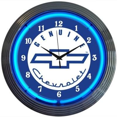 Chevrolet Chevy Genuine Neon Clock