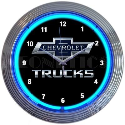 Chevrolet Chevy Trucks Neon Clock