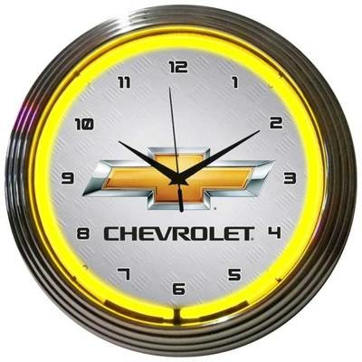 Chevrolet Chevy Bowtie Neon Clock
