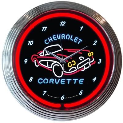 Chevrolet Chevy Corvette Neon Clock
