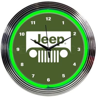 Jeep Neon Clock