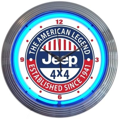 Jeep American Legend Neon Clock