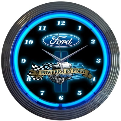 Ford Powered by Neon Clock