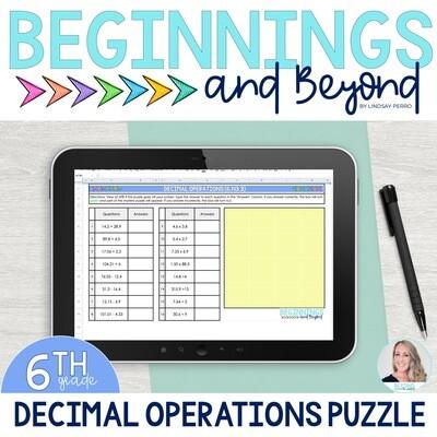 Decimal Operations Digital Puzzle