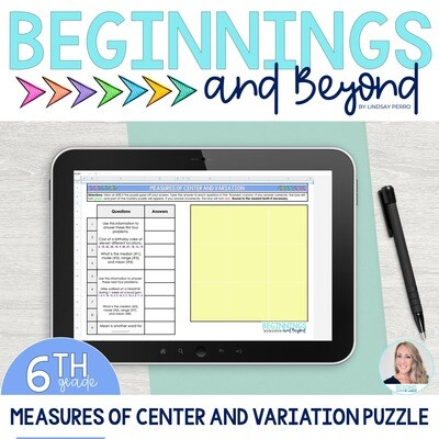 Measures of Center and Variation Digital Puzzle