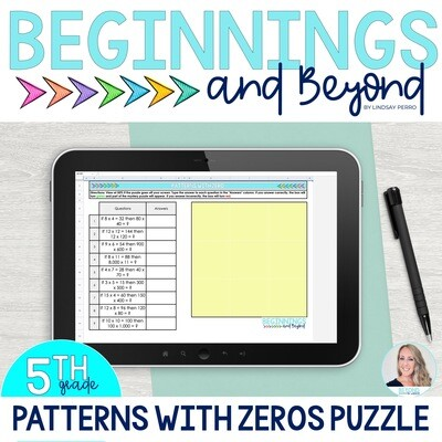 Patterns with Zeros Digital Puzzle