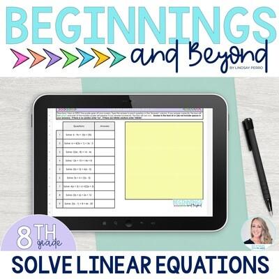 Solve Multi-Step Equations Digital Puzzle