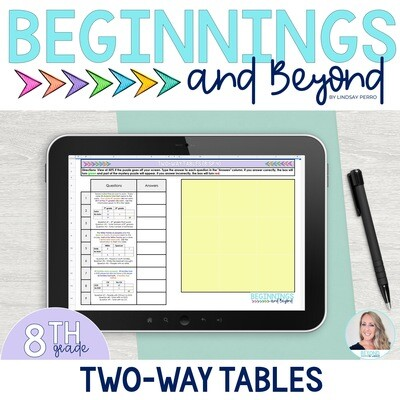 Two-Way Tables Digital Puzzle