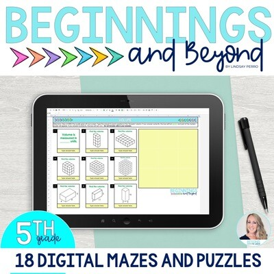 5th Grade Digital Maze and Puzzle Bundle