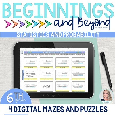 6th Grade Statistics and Probability Digital Maze and Puzzle Bundle