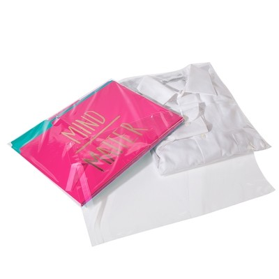 Crystal Clear Polypropylene Lip and Tape Bags 12.25