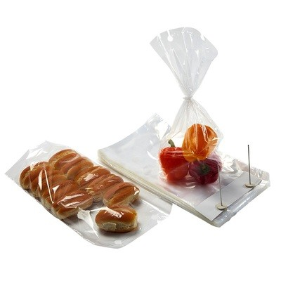 Wicketed Poly Bakery Bags with Bottom Gusset 9.25