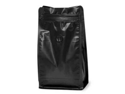 16 oz Black Coffee Bags with Degassing Valve, 25 pack