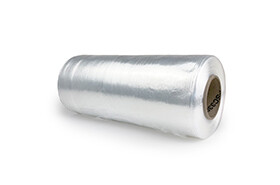 """13.3"""", 65 Gauge Cast Hand Stretch Film Clear 1500 FT/Roll"""