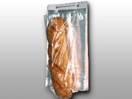 11 X 13 + 4 BG + 1 1/2 LP 0.8 mils Polypropylene Co-Extruded Bottom Gusset Bag on Wicket Dispenser