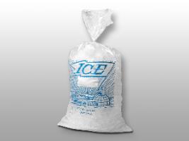 9 X 18 1.2 mils Printed Metallocene Ice Bag -- 5 lb.