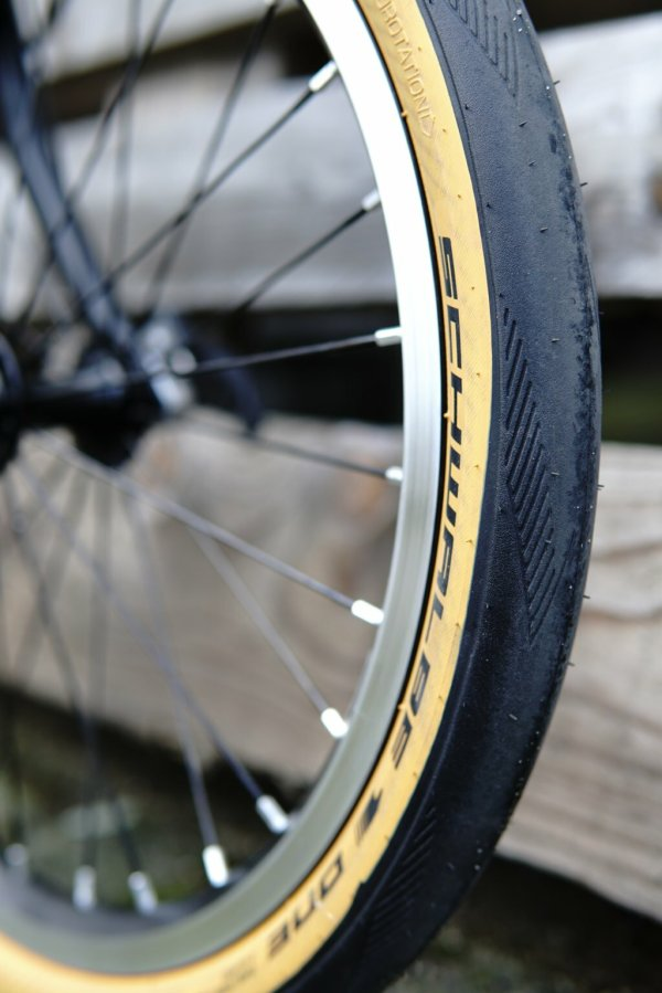 Schwalbe One tyre 35 (34)-349 tan / amber wall (tanwall) for Brompton   and CHPT3 bikes