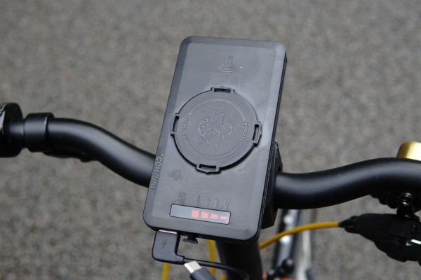 SKS Compit+ smartphone handlebar holder compatible with your Brompton(includes a 5000mAh Qi wireless powerbank) 00009