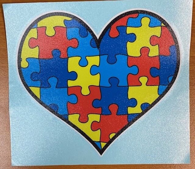 Autism Awareness | Puzzle Heart Sticker