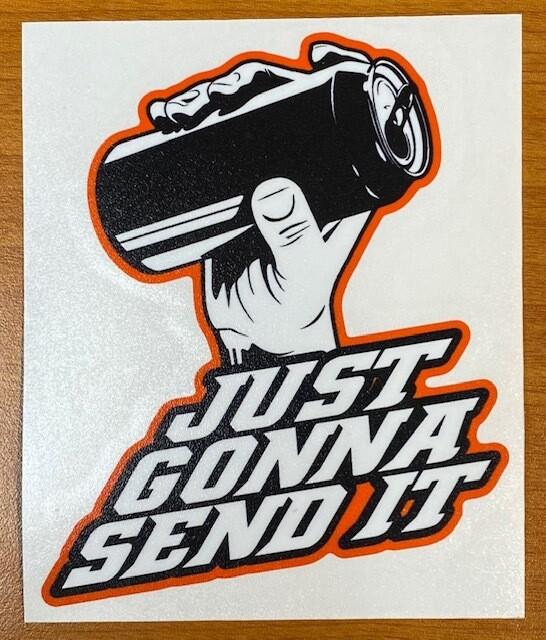 Larry Enticer | Just Gonna Send It Sticker