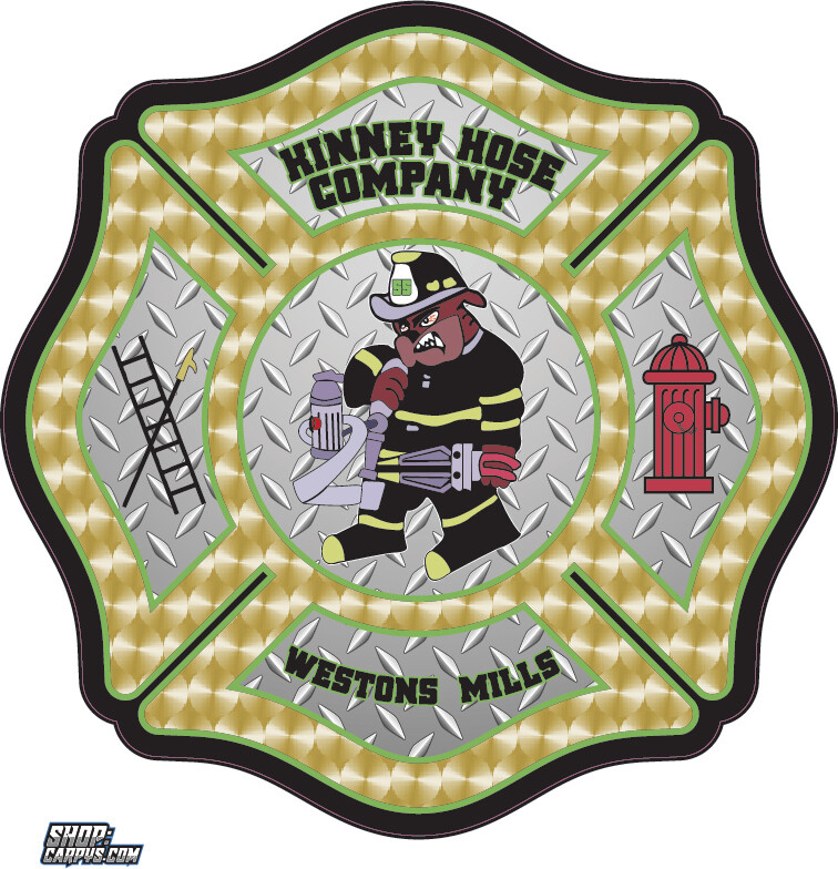 Kinney Hose Company Weston Mills Fire Dog Sticker