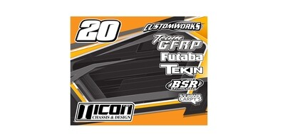 Pit Board WRAP ONLY (Custom Designed to Order)