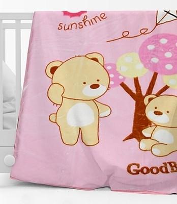 Κουβέρτα Βελουτέ Κούνιας  682 Ροζ - Sunshine