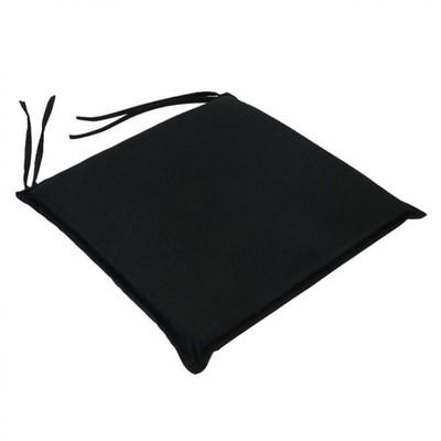 Μαξιλάρι Καρέκλας Μονόχρωμο Μαύρο - Be Comfy