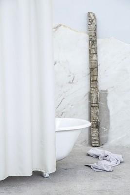 Κουρτίνα Μπάνιου Υφασμάτινη 180Χ180 εκ. Essential Beige - Nima Home