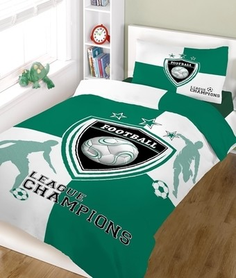 Σετ Σεντόνια Μονά Champions Green-White Cotton Line