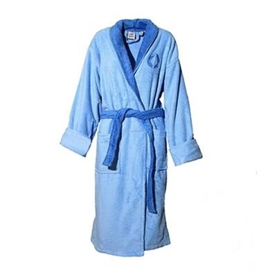 Μπουρνούζι Κέντημα & Γιακά Cotton 100% Μπλε - Sunshine