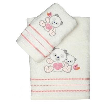 Σετ Πετσέτες 2 τεμ. Panda Pink