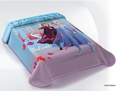 Κουβέρτα Βελουτέ Frozen - Disney Ισπανίας - Belpla
