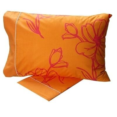 Σετ Σεντόνια Μονά Cotton Feelings 537 Orange - Sunshine