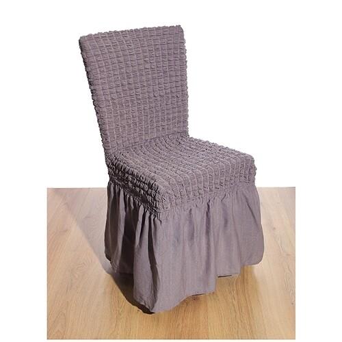 Κάλυμμα Καρέκλας Γκοφρέ Ελαστικό Gray