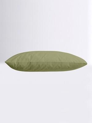 Μαξιλαροθήκες Ζευγάρι Μονόχρωμες Menta 11 Olive - Sunshine