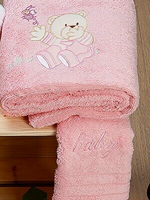 Σετ Πετσέτες 2 τεμ. Bear Pink