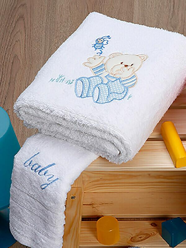 Σετ Πετσέτες 2 τεμ. Bear White-Blue