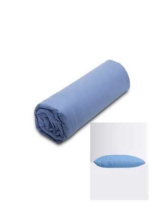 Σετ Κατωσέντονο Λάστιχο Υπέρδιπλο & 2 Μαξιλαροθήκες  Blue Menta - Sunshine