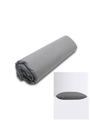 Σετ Κατωσέντονο Λάστιχο Υπέρδιπλο & 2 Μαξιλαροθήκες  Dark Gray Menta - Sunshine