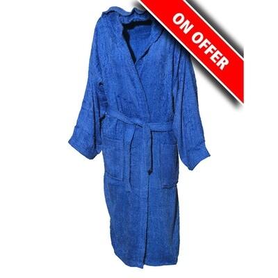 Μπουρνούζι Μονόχρωμο Cotton 100% Blue - Sunshine
