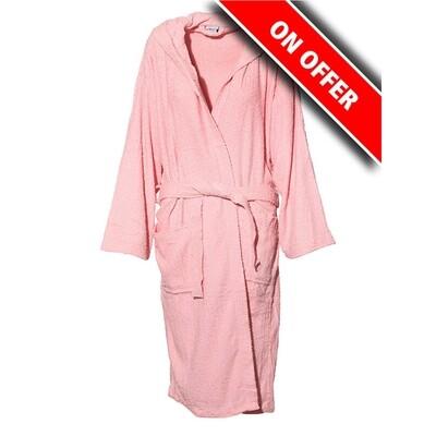 Μπουρνούζι Μονόχρωμο Cotton 100% Pink - Sunshine