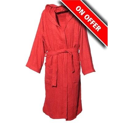 Μπουρνούζι Μονόχρωμο Cotton 100% Red - Sunshine