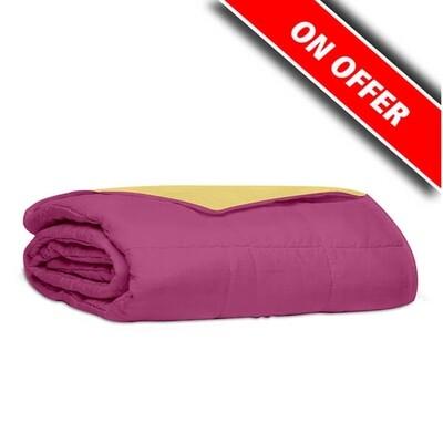 Κουβερλί Υπέρδιπλο Βαμβάκι 100% Percale Pink-Yellow - Sunshine