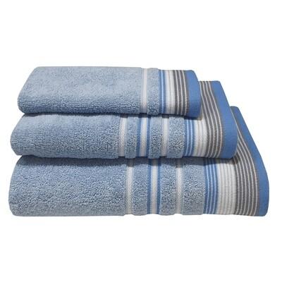 Πετσέτα Χειρός Satin Stripe Πεννιέ Light Blue - Komvos