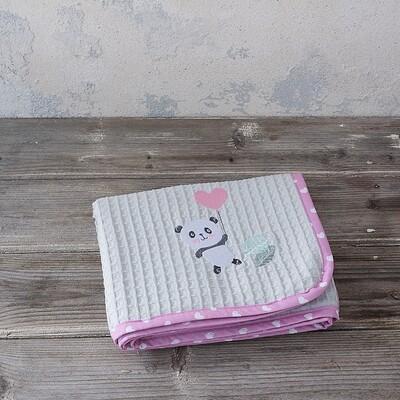 Κουβέρτα Πικέ Κούνιας Lola Panda - Nima Home
