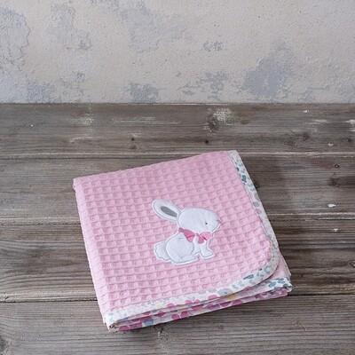 Κουβέρτα Πικέ Λίκνου Some Bunny - Nima Home